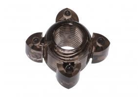 Чёрное эрекционное кольцо Rings Screw