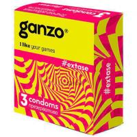 Презервативы Ganzo Extase №3 c точечной и ребристой поверхностью