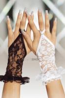 Перчатки кружевные короткие SoftLine Collection, белый, S/L
