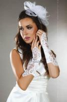 Перчатки LivCo Corsetti Fashion LC gloves model 3, Белый, One size